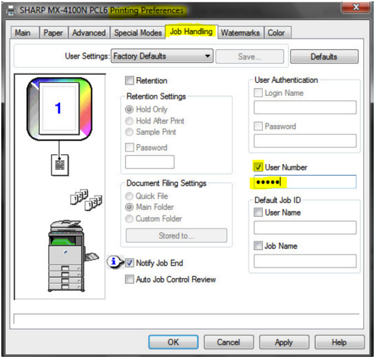 How To Setup Sharp User Control On Copier
