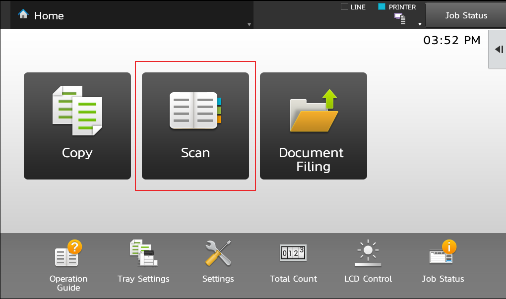 Sharp MX-3070N Scan To Word Doc - Touch Scan