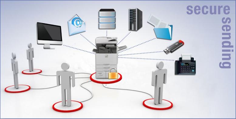 Sharp Copier Secure Scanning Image Send