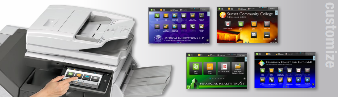 Sharp Copier Touch Screen Customize
