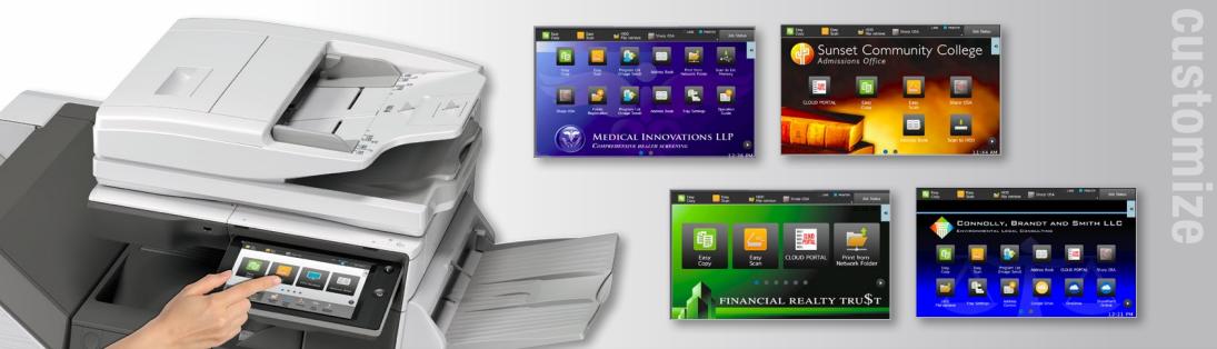 Sharp Copier Touch Screen Customize