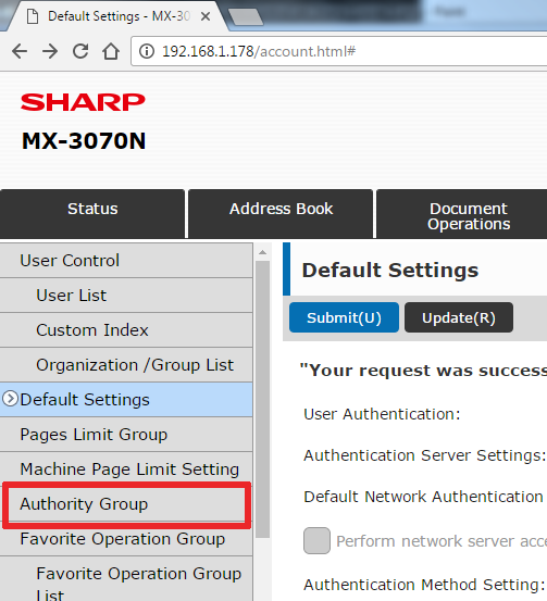 How To Setup User Control on Sharp Copier 4