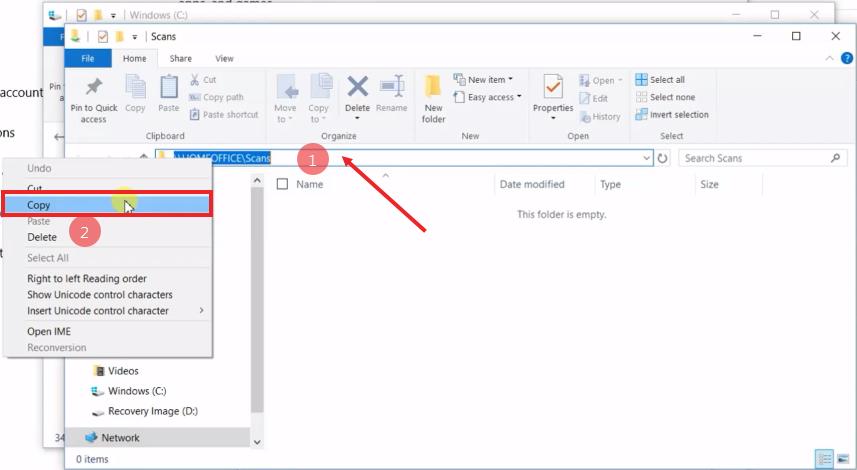 How To Setup Scan to Folders Windows 10 Sharp Copier Scanner 14