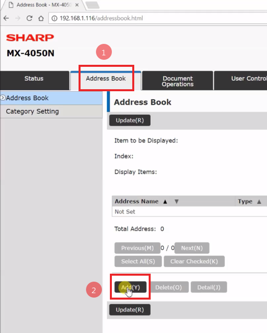 How To Setup Scan to Folders Windows 10 Sharp Copier Scanner 16