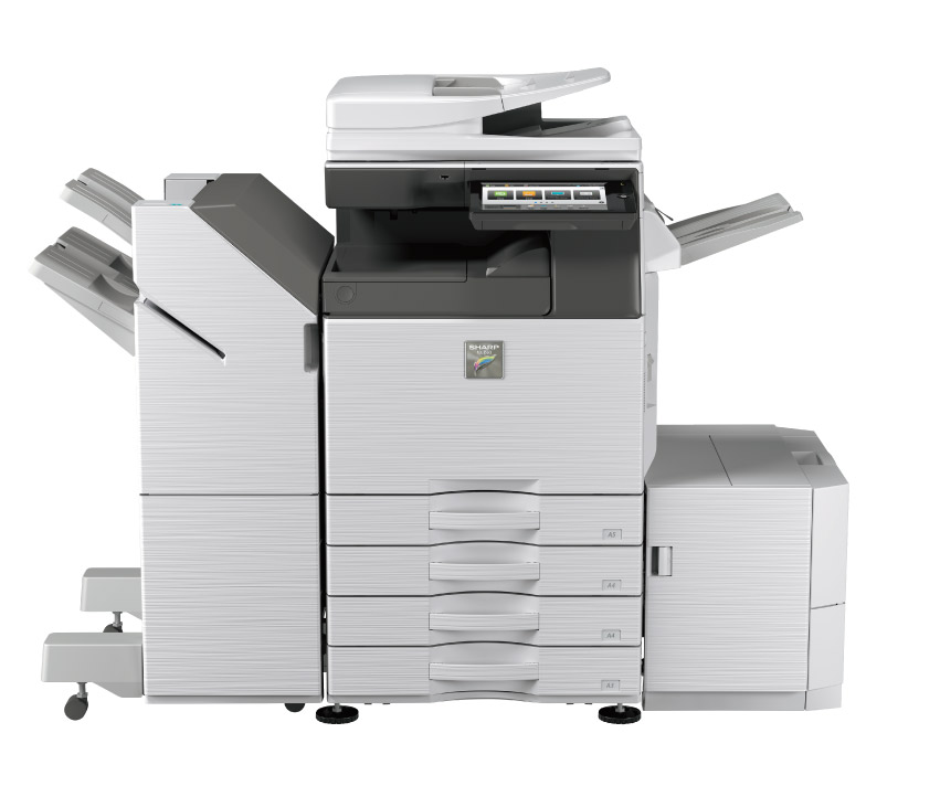 Sharp MX3050-3550-4050 with finisher and large capacity cassette