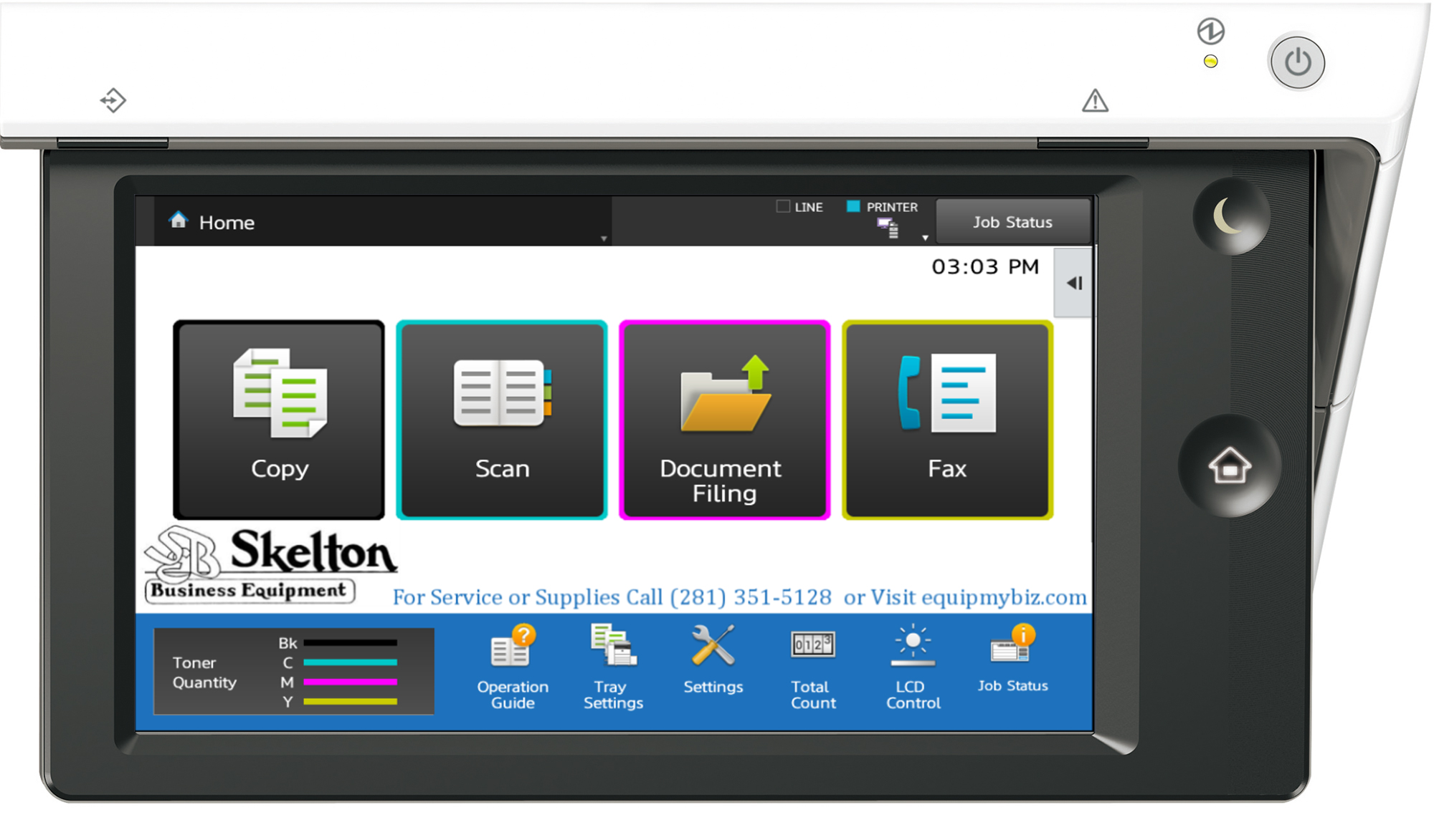 Skelton Sharp Copier Touch Screen | Copier Sales and Leasing