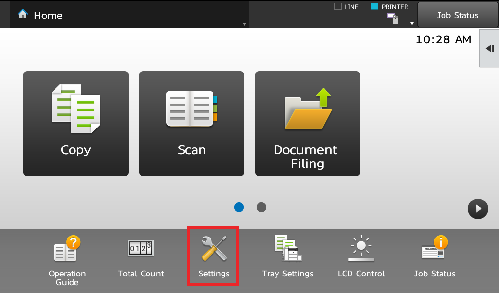 1 Touch Settings - How To Setup HID Card Reader and Auto-Login Print on Sharp Copier