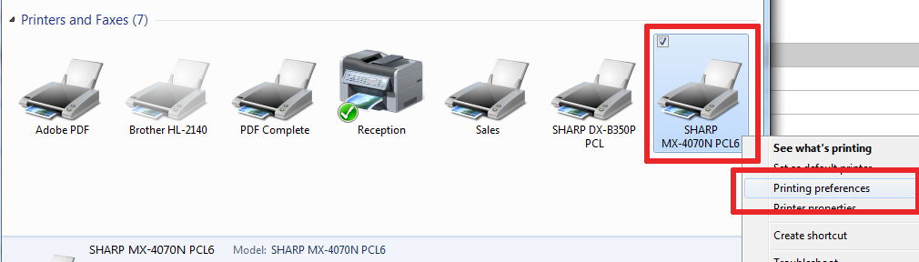 21 Printing Preferences - How To Setup HID Card Reader and Auto-Login Print on Sharp Copier