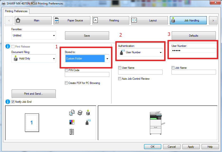23 Custom Folder, User Auth - How To Setup HID Card Reader and Auto-Login Print on Sharp Copier