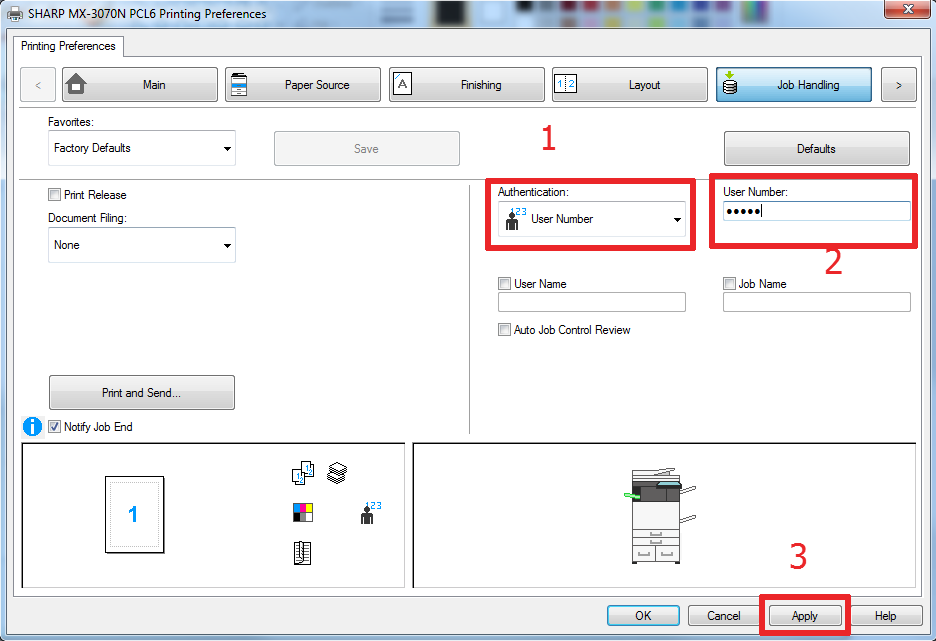 How To Setup User Control on Sharp Copier 13