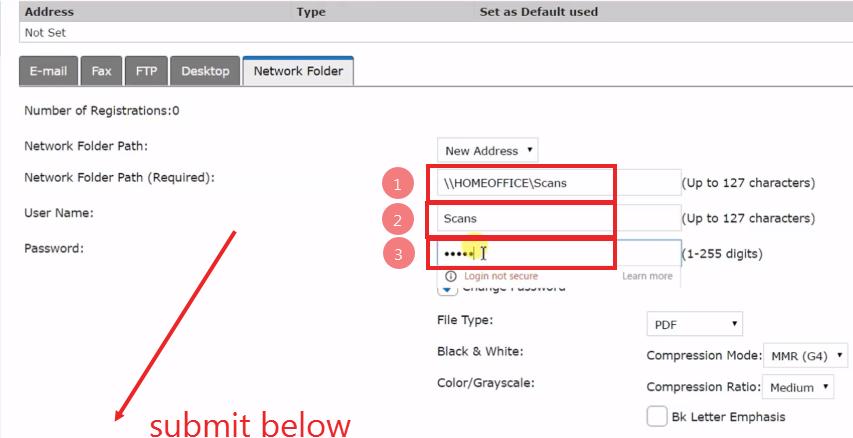 How To Setup Scanning to Folders - Windows 10 - Sharp Copier Scanner