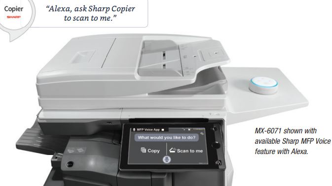 Amazon Alexa Sharp Copier Voice Control